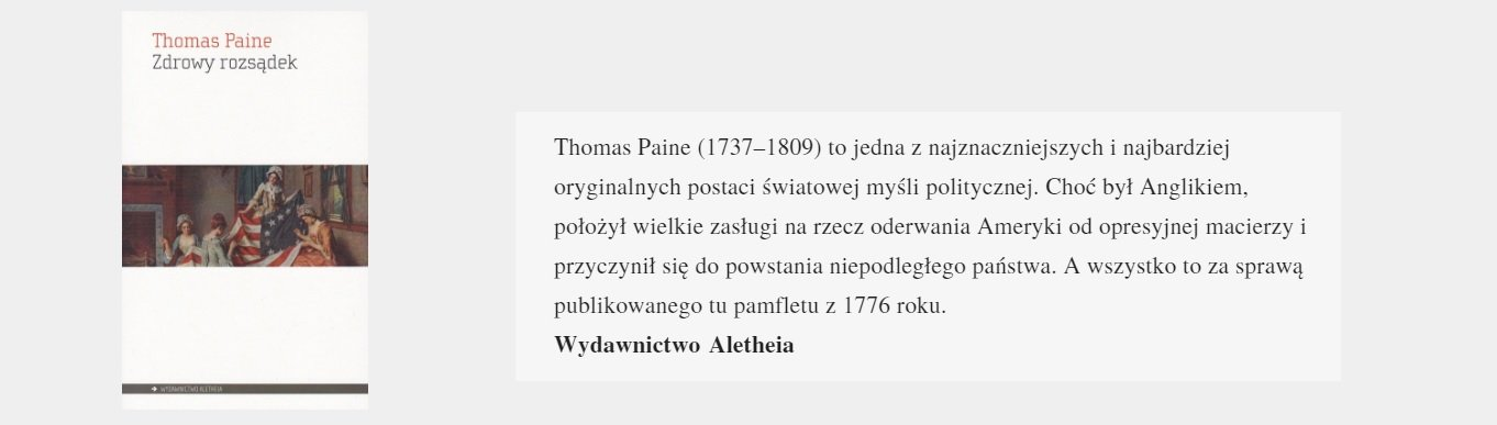 Zdrowy rozsądek   Thomas Paine
