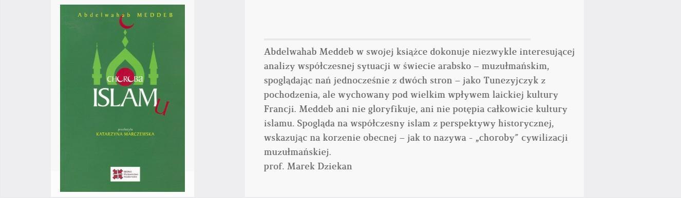 Choroba islamu | KSIĄŻKA TYGODNIA