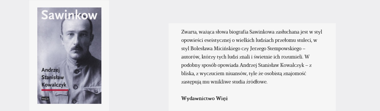 Sawinkow   Książka tygodnia