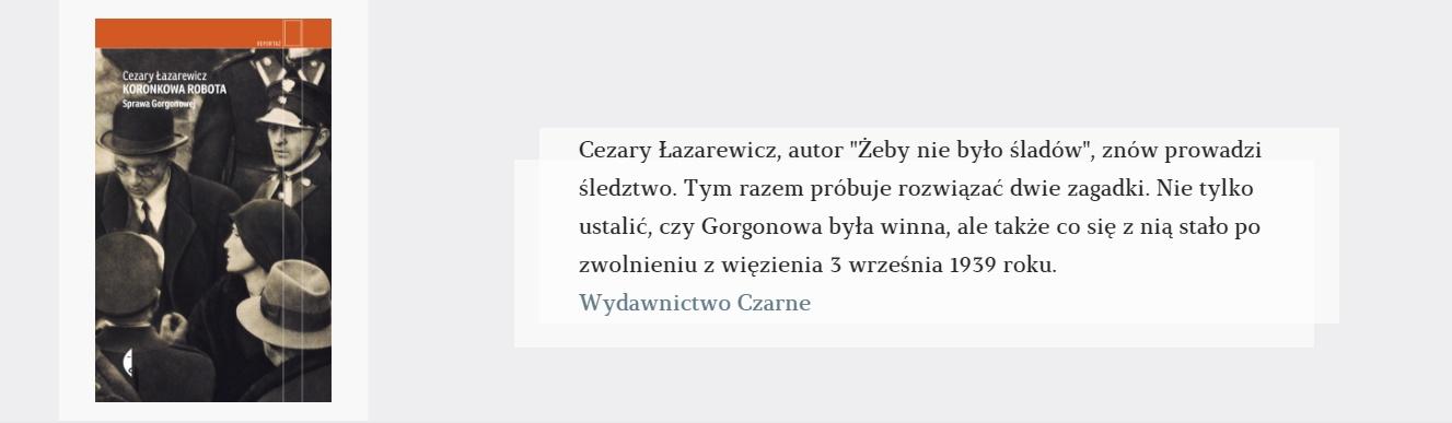 Koronkowa robota | Cezary Łazarewicz
